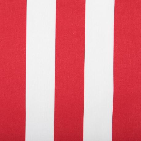Toile transat tissu d'extérieur - Largeur 43cm - Rayures Rouge & blanc
