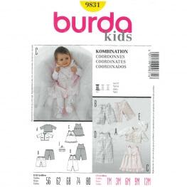 Patron coordonnés bébé - Burda 9831