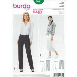 Patron de pantalon & pantacourt femme - Burda 6681