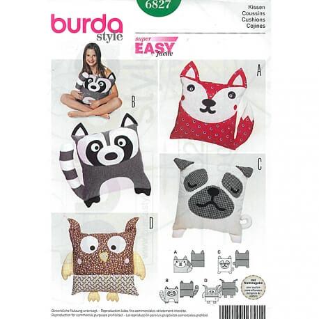 Patron de coussins animaux - Burda 6827