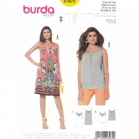 683b07327518f Patron robe & top femme, Burda 6969