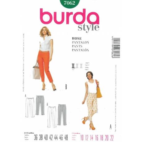 Patron de pantalon étroit femme - Burda 7062