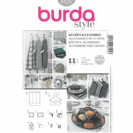 Patron d'accessoires de cuisine - Burda 8125