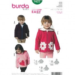 Patron veste enfant - Burda 9425