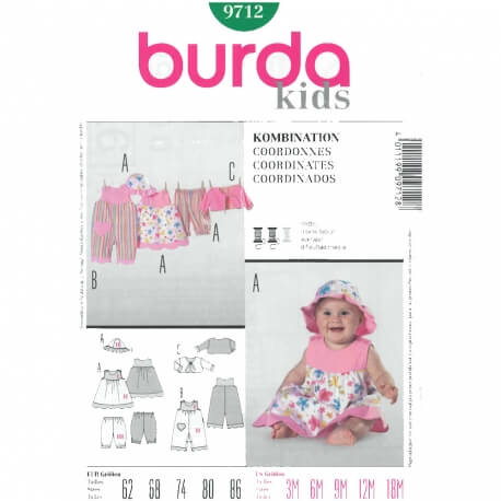 Patron coordonnés bébé - Burda 9712