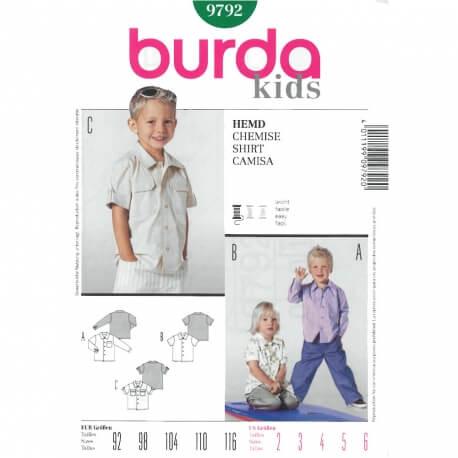 Patron chemise enfant - Burda 9792