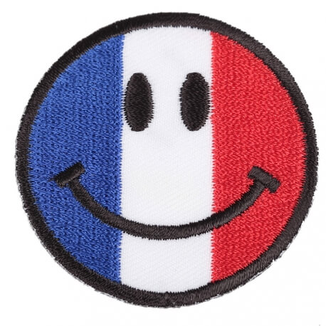 Ecusson smiley drapeau France