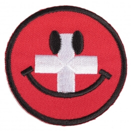 Ecusson smiley Suisse