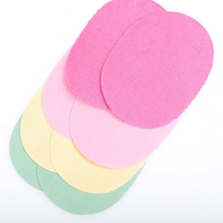Assortiment petits renforts en jean pour coudes et genoux - Thermocollant ou à coudre - Coloré