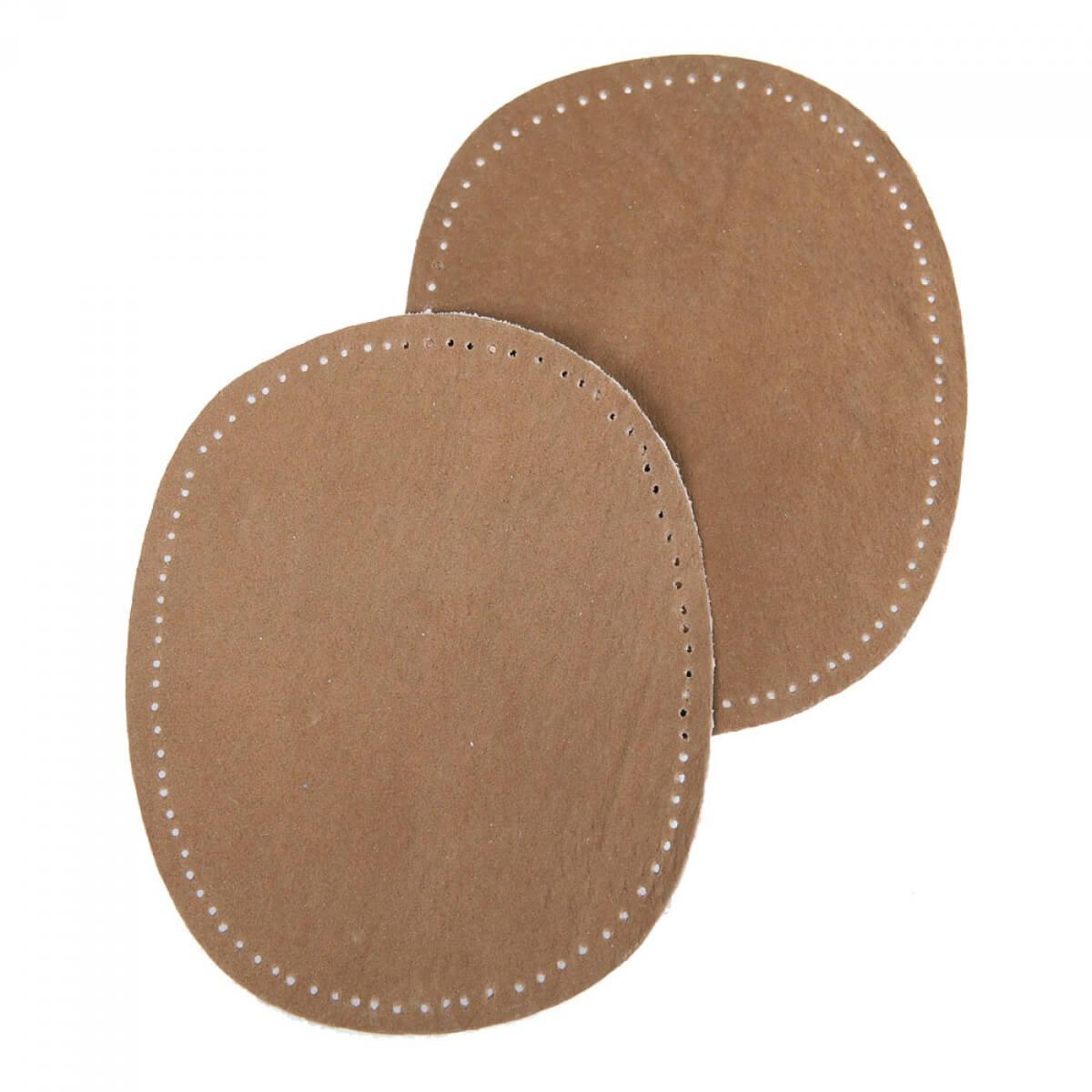 Renfort coudre marron en cuir v ritable pour coude et genoux - Coudre le cuir ...