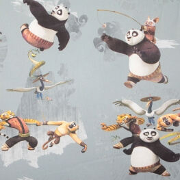 Tissu coton enfant Kung Fu Panda