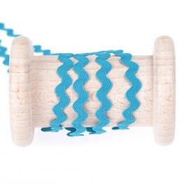 Ruban croquet uni au mètre - Bleu turquoise