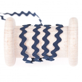 Ruban croquet uni au mètre - Bleu marine