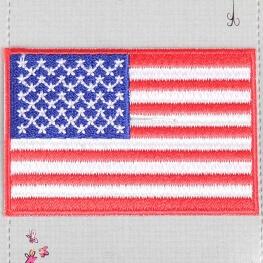 Ecusson drapeau USA - Etats Unis