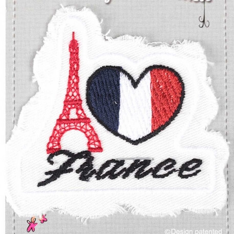 Ecusson Tour Eiffel - J'aime la France