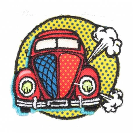 Ecusson coccinelle - Badge cartoon pop art 90's