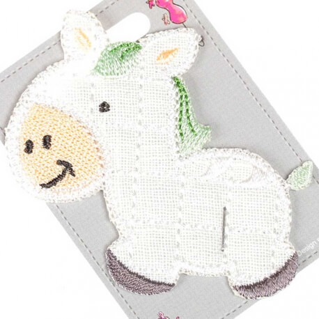 Ecusson enfant animaux poney - Effet matelassé