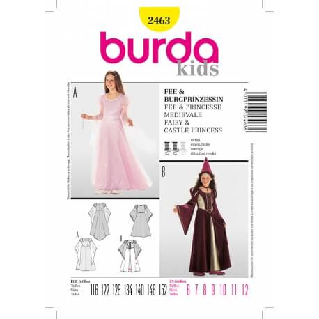 Patron déguisement enfant fée & princesse - Burda 2463