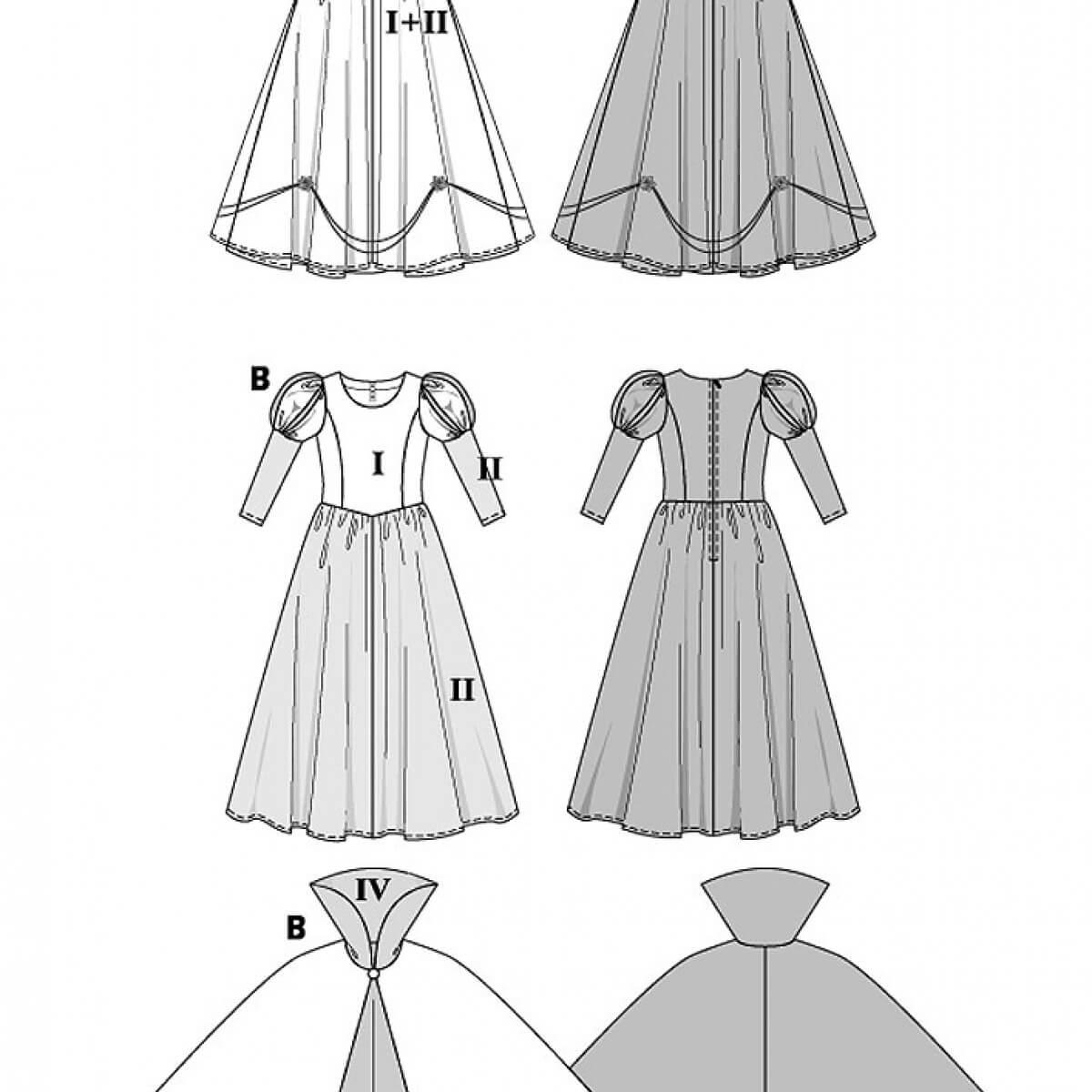 Modele robe blanche neige