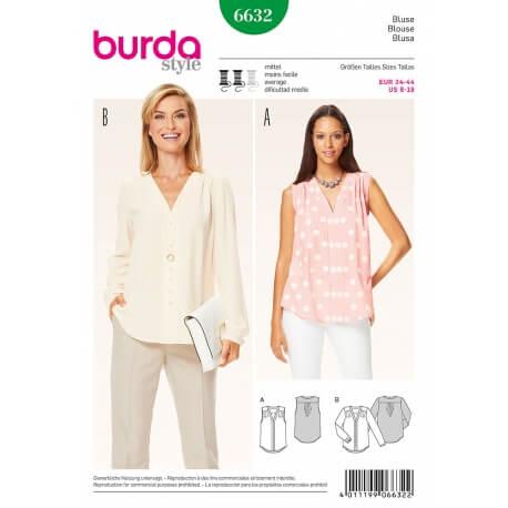 Patron tunique femme - Burda 6632