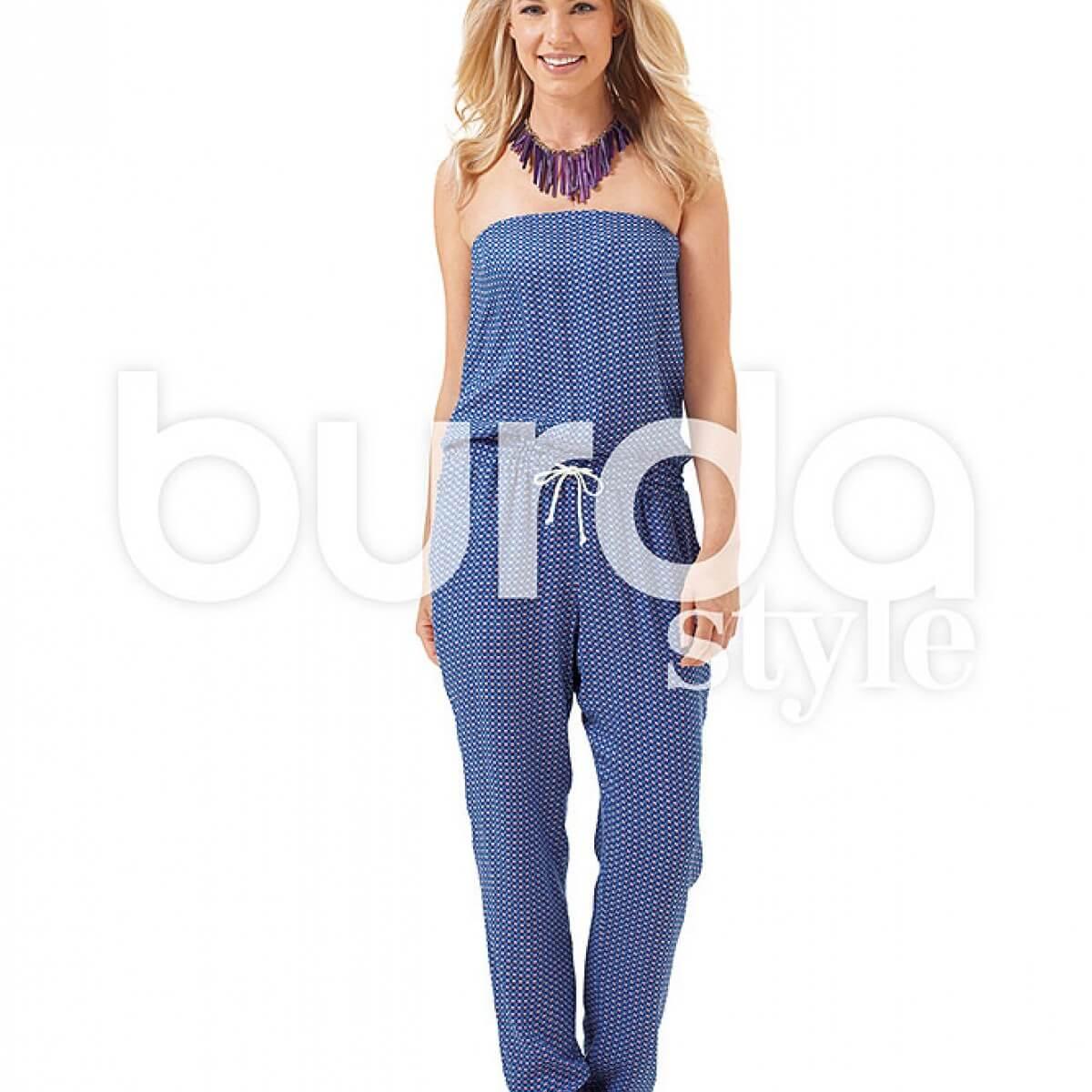 patron combinaison pantalon femme burda 6657 mercerie car fil. Black Bedroom Furniture Sets. Home Design Ideas