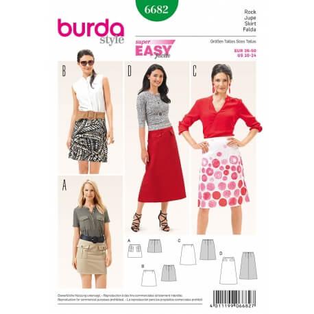 Patron jupe femme - Burda 6682