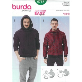 Patron sweat-shirt homme - Burda 6718