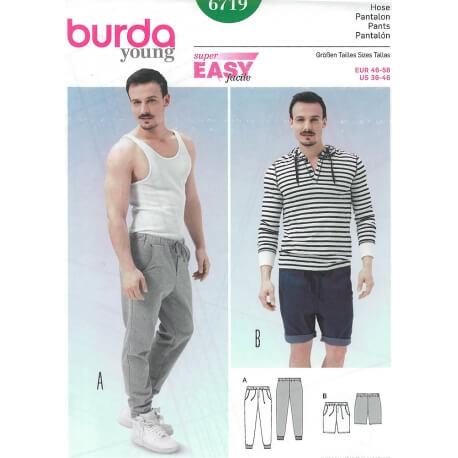 Patron pantalon & short homme - Burda 6719