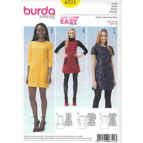 Patron robe femme - Burda 6721