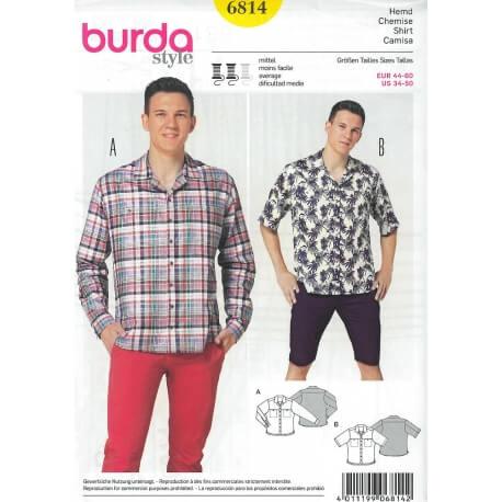Patron chemise homme - Burda 6814