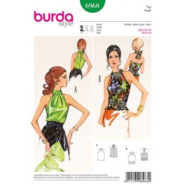 Patron vintage débardeur femme - Burda 6968