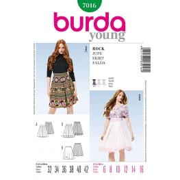 Patron jupe femme - Burda 7016