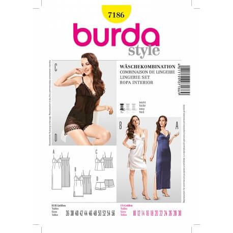 Patron de lingerie femme - Burda 7186