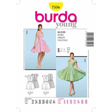 Patron de robe femme - Burda 7556