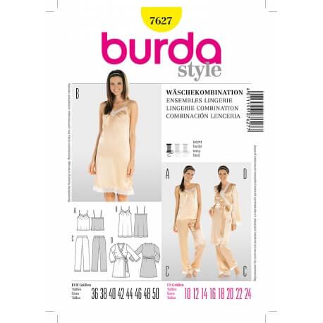 Patron ensemble lingerie femme - Burda 7627