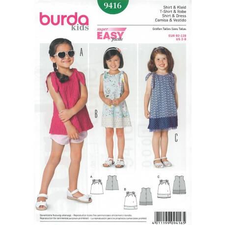 Patron robe enfant - Burda 9416