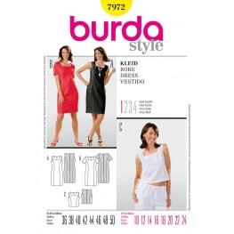 Patron robe & top femme - Burda 7972