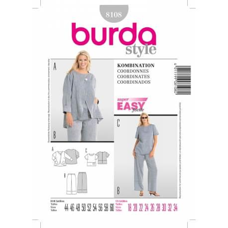 Patron coordonnés femme grandes tailles - Burda 8108