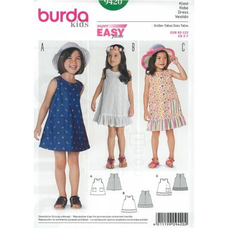 Patron robe enfant - Burda 9420