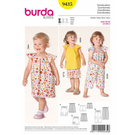 Patron coordonnés enfant - Burda 9435
