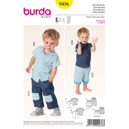 Patron coordonné enfant garçon - Burda 9436