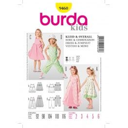 Patron robe & combinaison enfant - Burda 9460