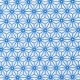 Tissu coton cretonne étoiles asanoha - Blanc & bleu