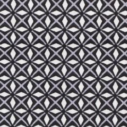 Tissu coton cretonne fantaisie - Noir
