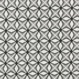 Tissu coton cretonne fantaisie - Gris