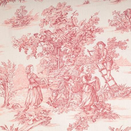 Tissu toile de Jouy grande largeur -
