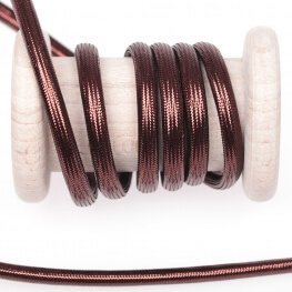 Cordelière lurex brillant tressée ronde 5 mm - Marron