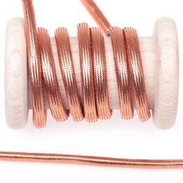 Cordelière lurex brillant tressée ronde 5 mm - Cuivre