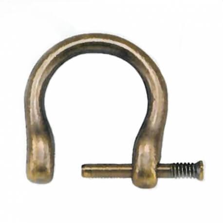 Attaches métalliques pour anses sac à main - Laiton antique
