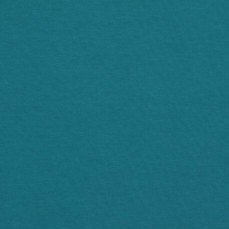 Tissu pour sweat jersey coton uni - Bleu pétrole